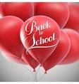 Back To School retro label vector image vector image