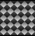 black and white abstract diagonal square pattern vector image vector image