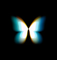 butterfly isolated logo bright colorful vector image vector image