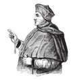 cardinal thomas wolsey vintage vector image vector image