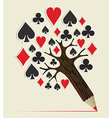 Casino Poker concept tree vector image vector image