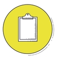 Checklist icon inside green button design vector image vector image