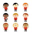 children soccer team vector image