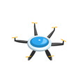 colorful flat icon of flying drone air vector image
