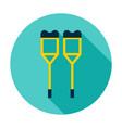 crutches circle icon vector image vector image