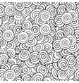 Doodle seamless pattern with black and white vector image