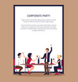 drinking and partying people vector image vector image