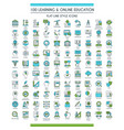 education icons big set vector image vector image