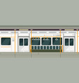empty subway train inside view metro carriage vector image vector image