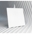 Empty white business card 3d vector image vector image
