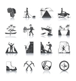 Expedition Icons Black Set vector image