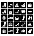 Fashion shoes and bags vector image vector image