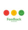 feedback concept emotions scale vector image vector image