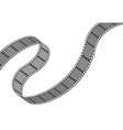 filmstrip roll cinema and movie element or object vector image vector image