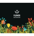 Floral background with cute flowers vector image vector image