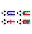 Football with El Salvador Equatorial Guinea Flag vector image vector image