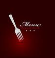 fork menu restaurant cover vector image vector image