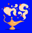 golden magic lamp fable arabian fairy tale vector image