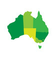 green blank map of australia vector image vector image