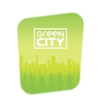 Green Eco City Background Design vector image vector image
