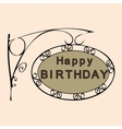 happy birthday retro vintage street sign vector image vector image