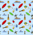 holiday beach theme seamless pattern vector image