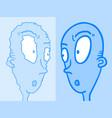 imaginative blue face refection vector image