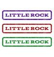 little rock watermark stamp vector image