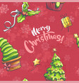 merry christmas seamless vector image