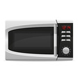 microwave oven 02 vector image vector image