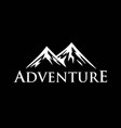 mountain adventure logo template vector image vector image