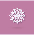 multilayered paper snowflake icon paper cut snow vector image vector image