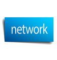 network blue paper sign on white background vector image vector image
