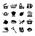 new food icons vector image vector image