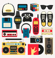 old style equipments accessories vector image