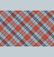 orange blue check plaid pixel texture vector image vector image
