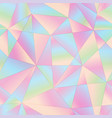 pastel color triangle pattern vector image