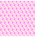 pink background cubes vector image vector image