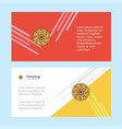 pizza abstract corporate business banner template vector image