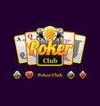 poker and playing card symbols vector image vector image