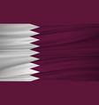 qatar flag flag of qatar blowig in the wind eps vector image