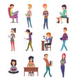 reading characters people knowledge student with vector image vector image