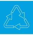 Recycle thin line sign vector image vector image