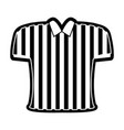 referee shirt icon vector image vector image