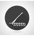 Scalpel black round icon vector image