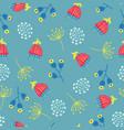 scandinavian flowers seamless background vector image vector image