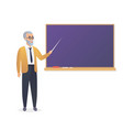 senior teacher old man professor standing in vector image vector image