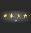 set gold stars isolated on gray background vector image