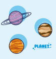 set of galaxy planets vector image