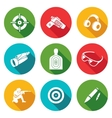 Shooting gallery Icons Set